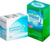 Pure Vision 2 6pk + Alcon OptiFree Pure Moist 120 мл.