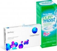 Biofinity, 6pk + ALCON Opti-free PureMoist, 300 мл.