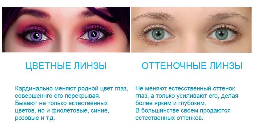 Цветные и оттеночные линзы